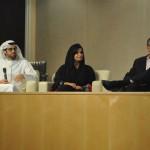 Faisal Al Hammadi, Souad Al Hosani and Ian Mason